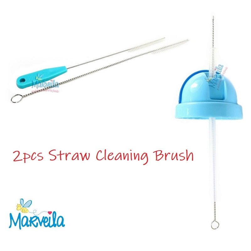 Marveila 2pcs Straw Cleaning Brush