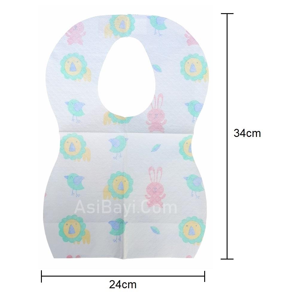 Marveila Disposable Baby Bibs (dimensi)