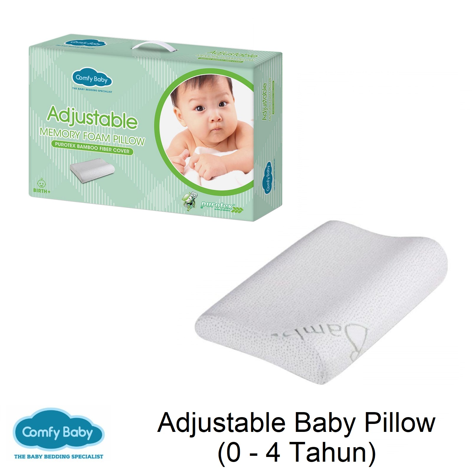 Comfy Adjustable Baby Pillow 4in1