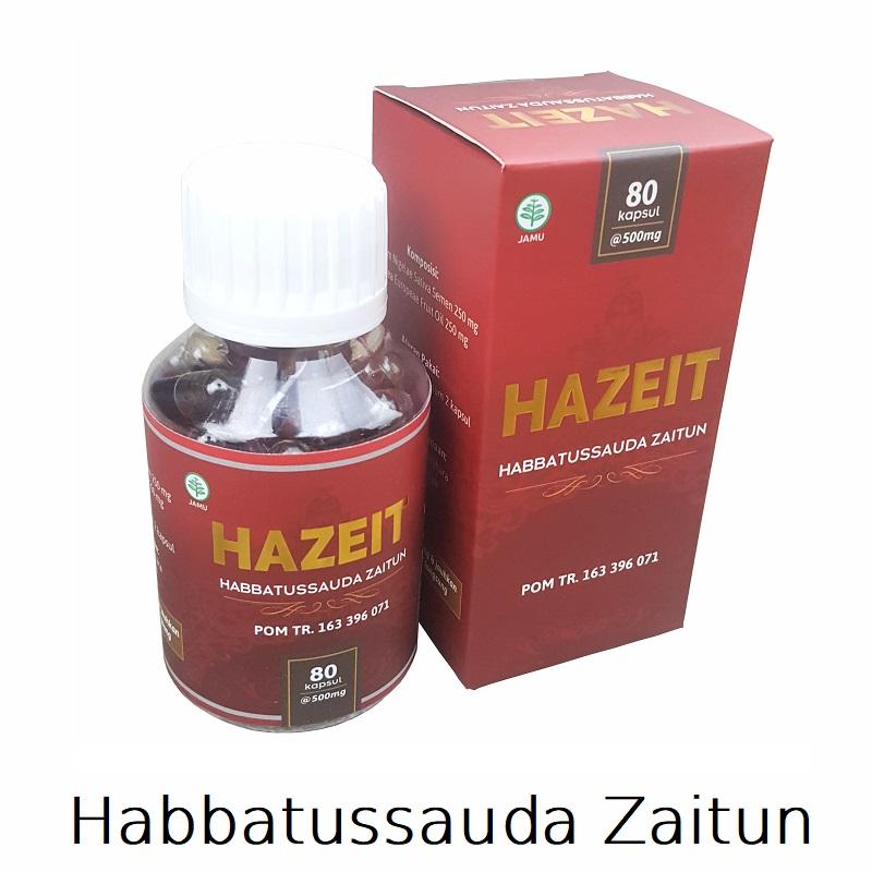 Hazeit Habbatussauda Zaitun 80 Kapsul