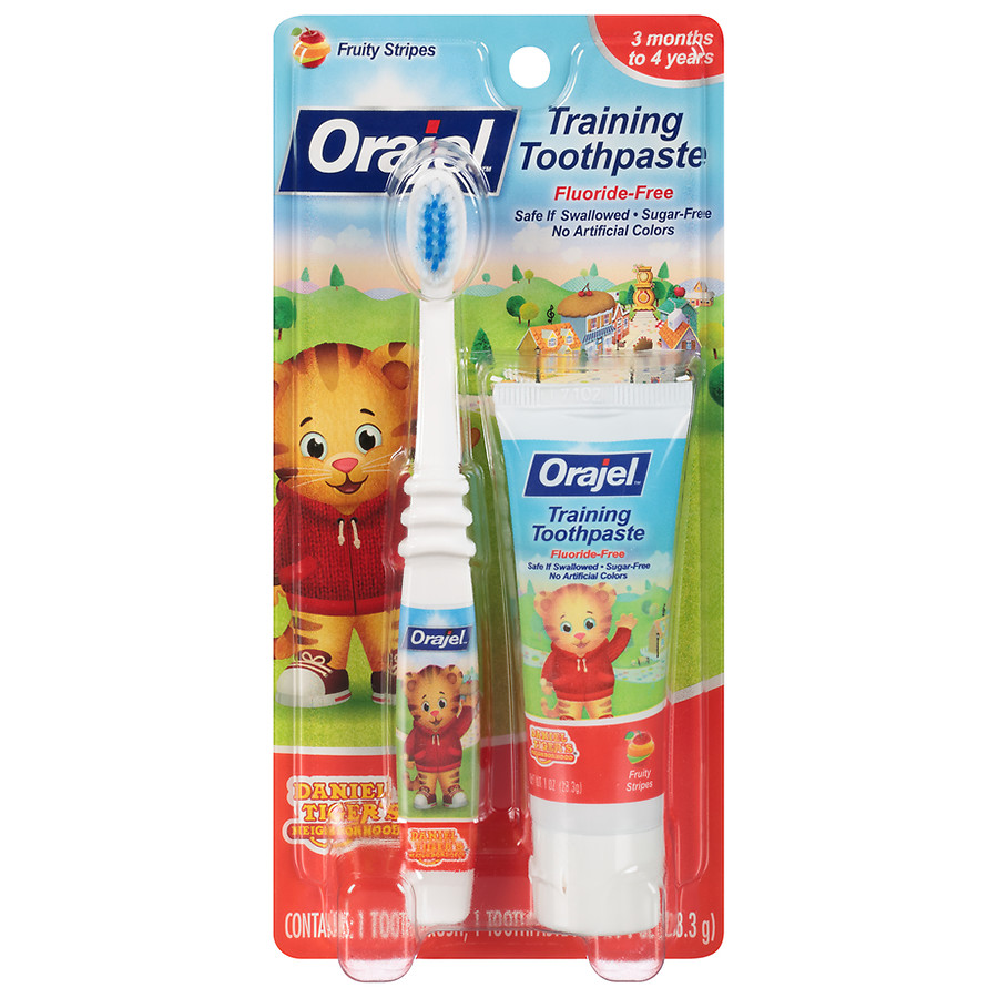 Orajel Training Toothpaste and Brush