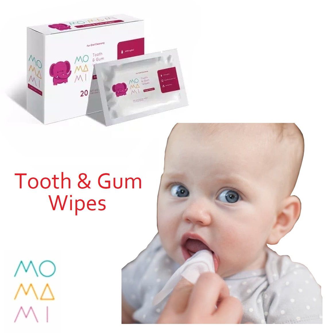MoMaMi Tooth Gum Wipes (2)