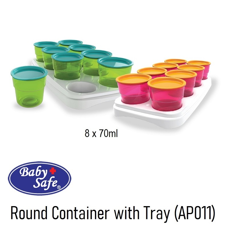 Baby Safe AP011 Round Container with Tray
