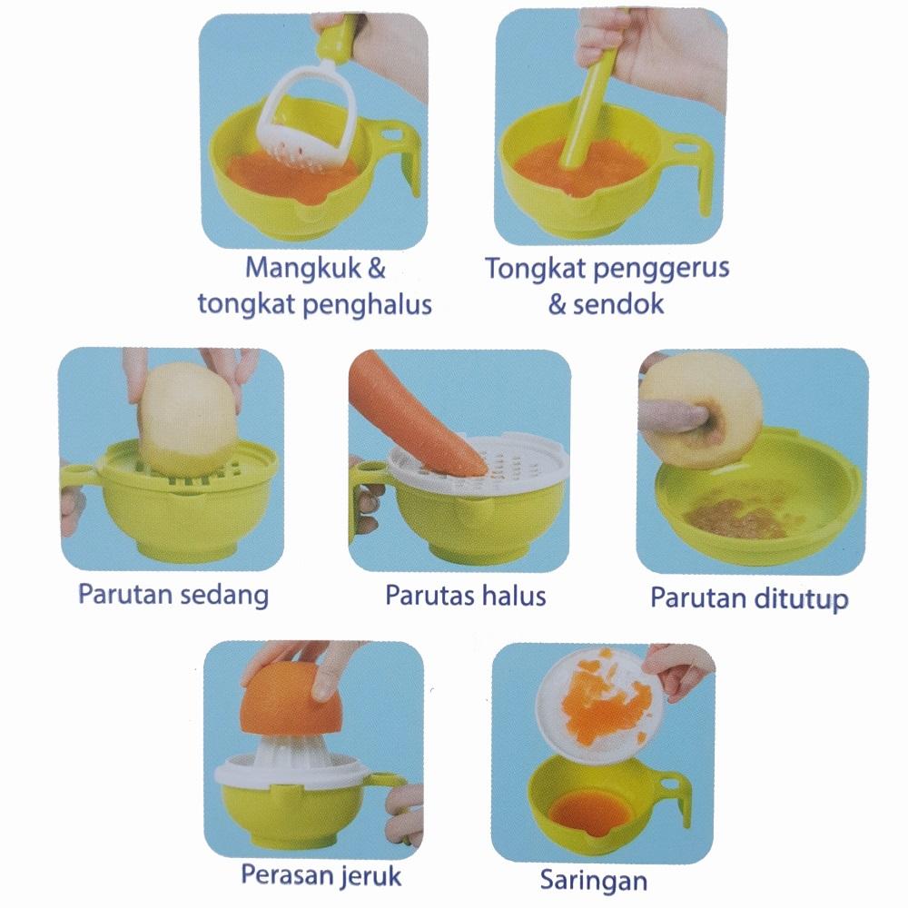 Baby Safe AP014 Multi Food Grinding Set (Fitur)