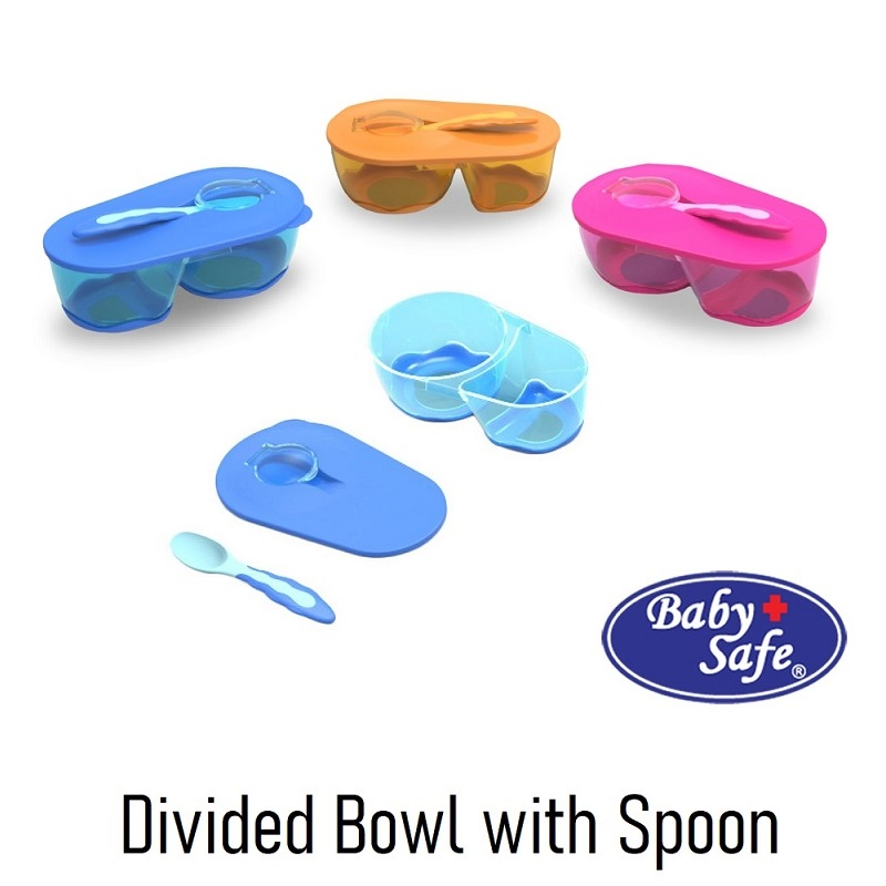 Baby Safe Divided Bowl with Spoon