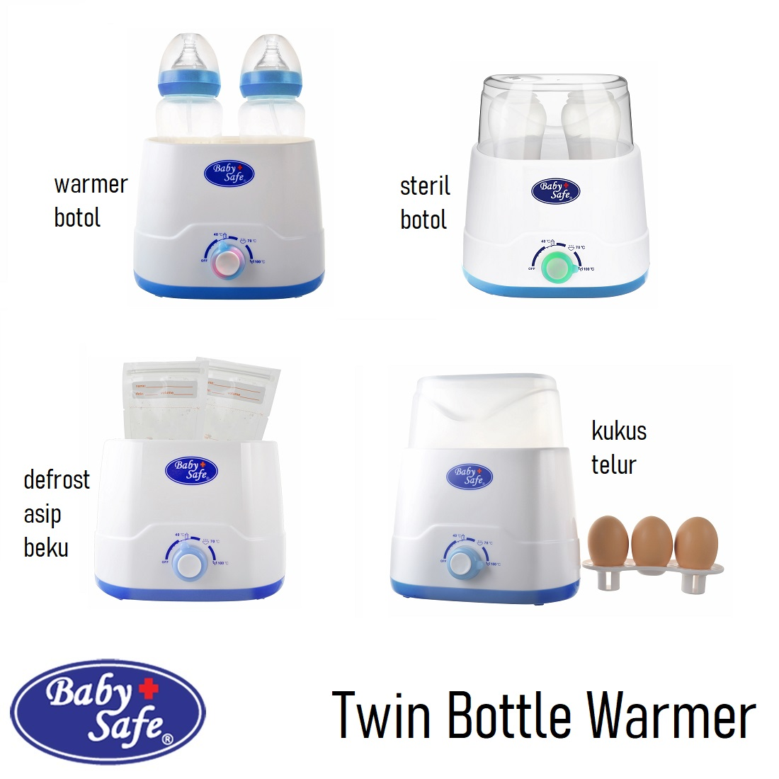 Baby Safe Twin Bottle Warmer