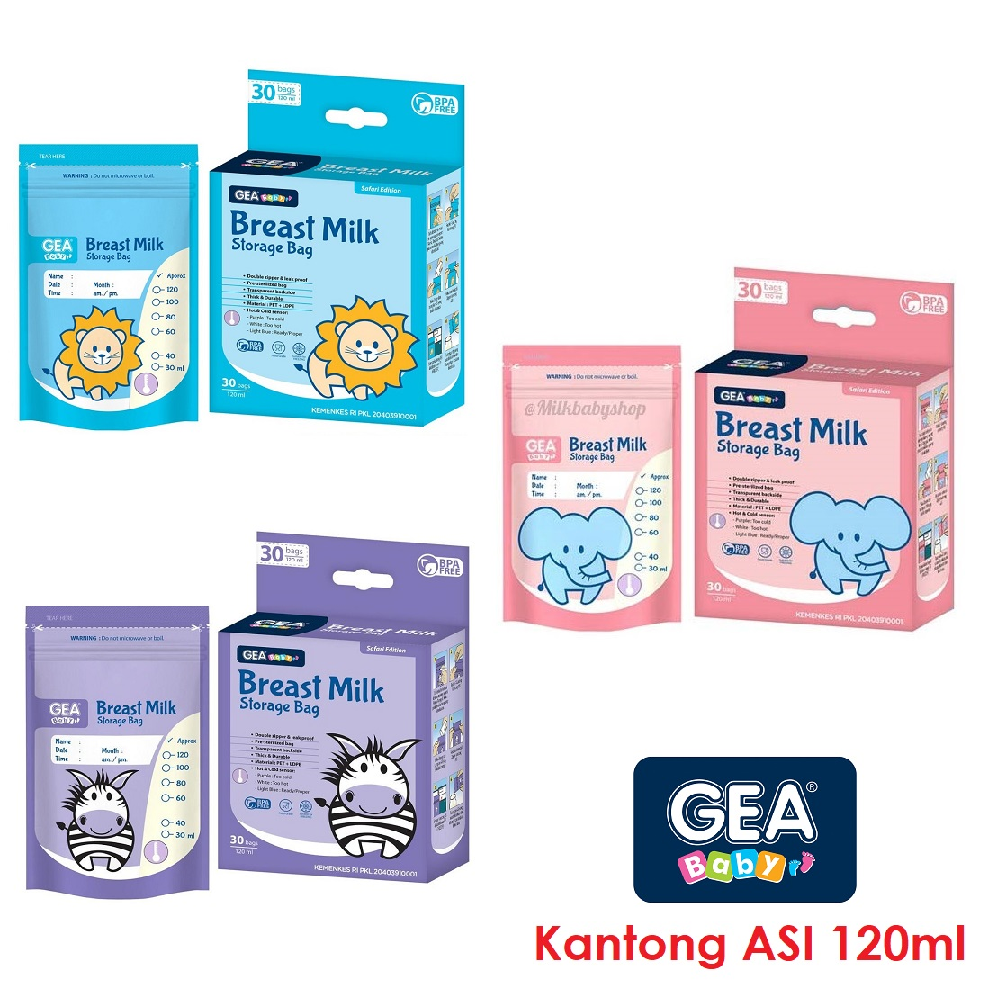 GEA 120ml Kantong ASI Breastmilk Bag Baby