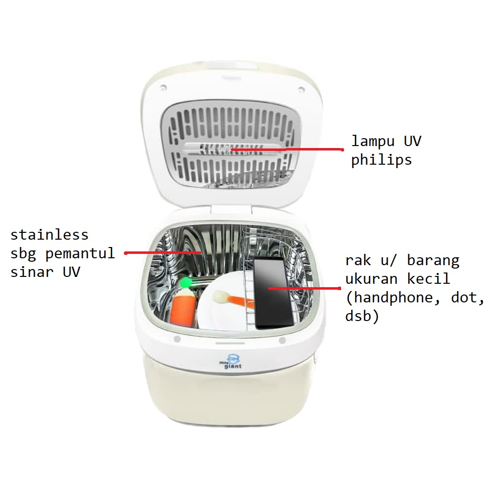 Little Giant Zhora UV Steriliser (detail)