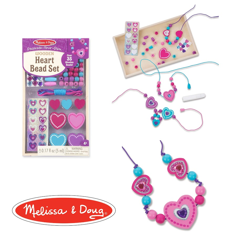 Melissa Doug Heart Bead Set