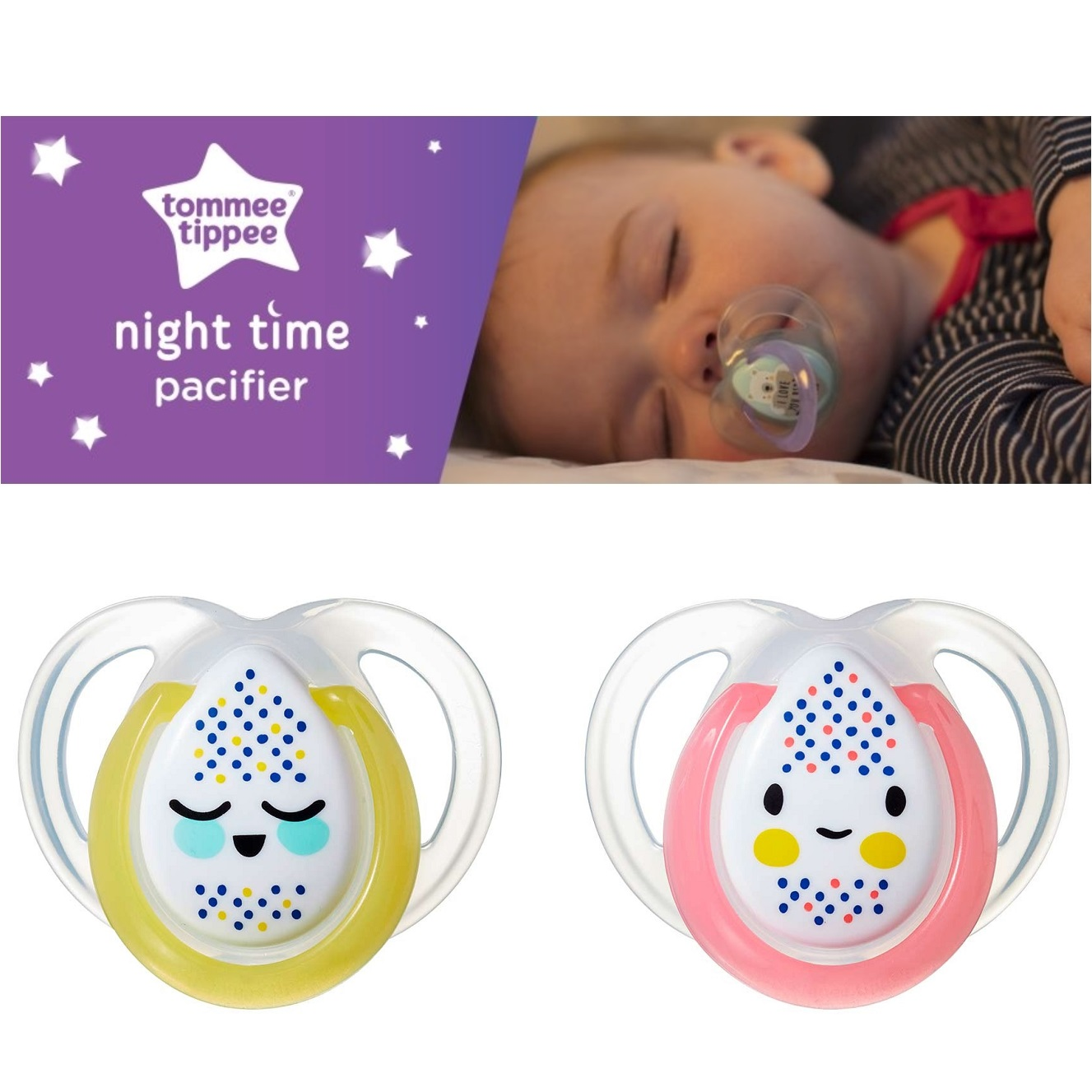 Tommee Tippee Night Time Orthodontic Soother (2)