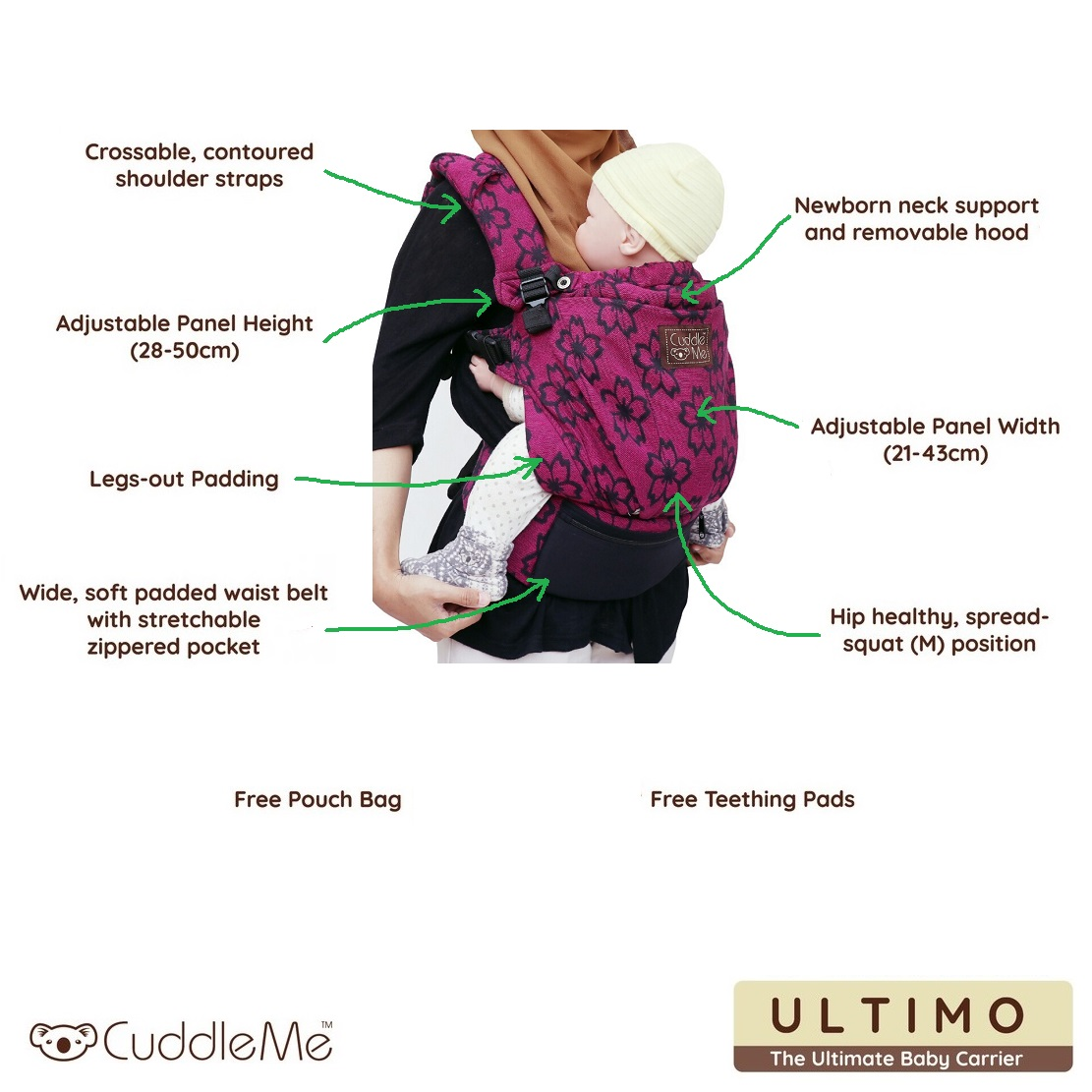 CuddleMe Ultimo Woven Baby Carrier (Cover)