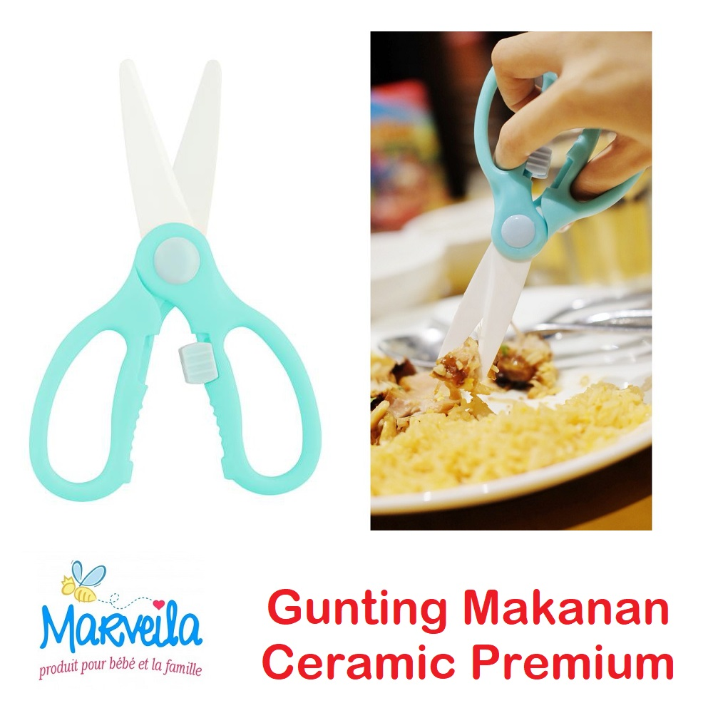 Marveila Gunting Makanan Ceramic Premium Food Scissors (3)