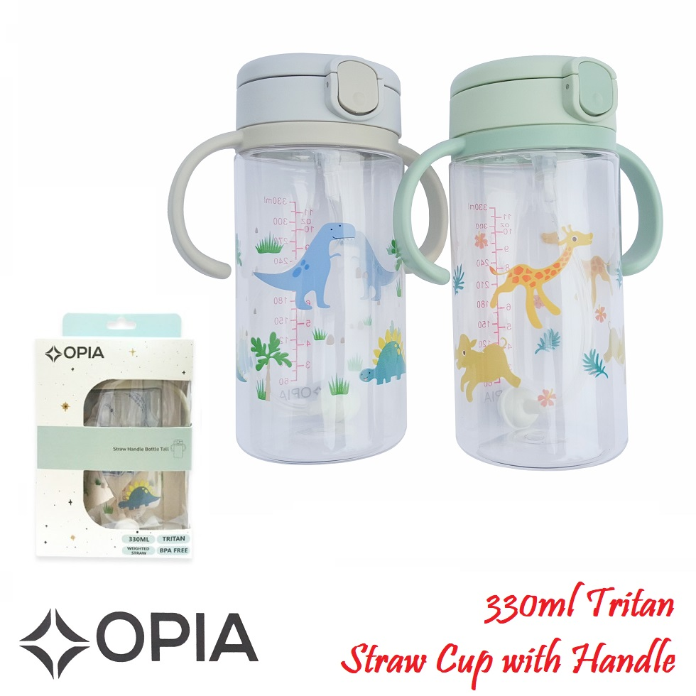 Opia 330ml Tritan Straw Bottle with Handle