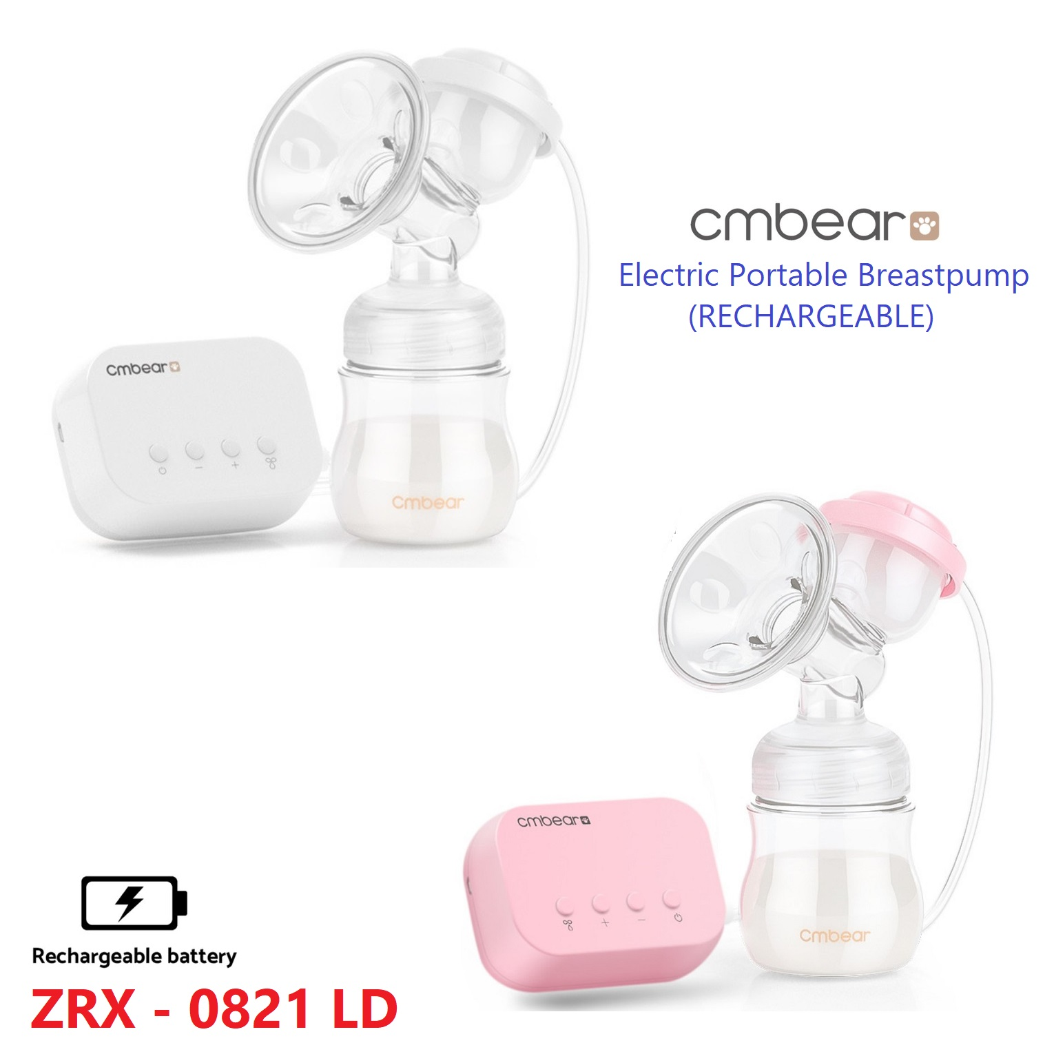 CMBear Electric Rechargeable Breastpump ZRX-0821LD