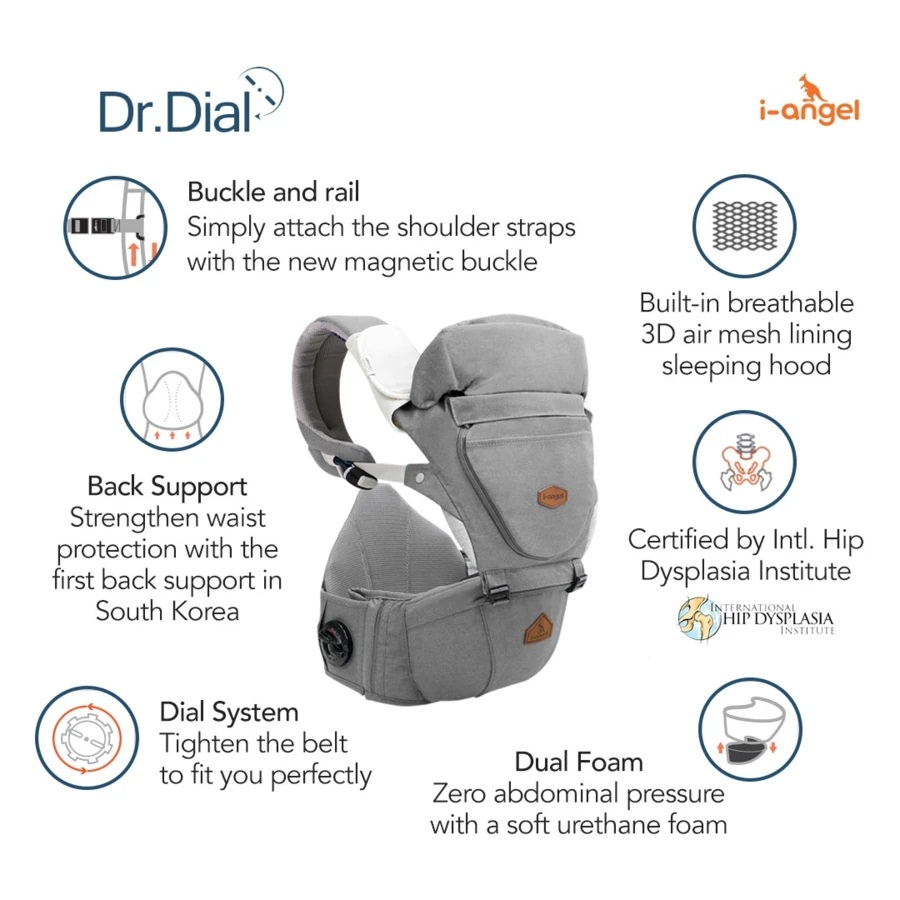 I-Angel Dr.Dial Premium Hipseat Carrier