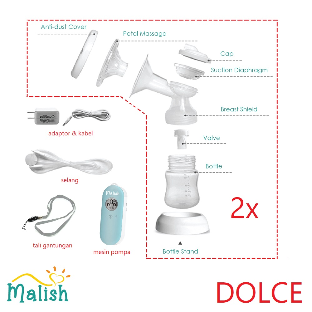 Malish Dolce Electric Breastpump (Part)