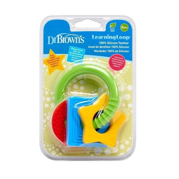 Dr Browns Learning Loop Silicone Teether (Packaging)
