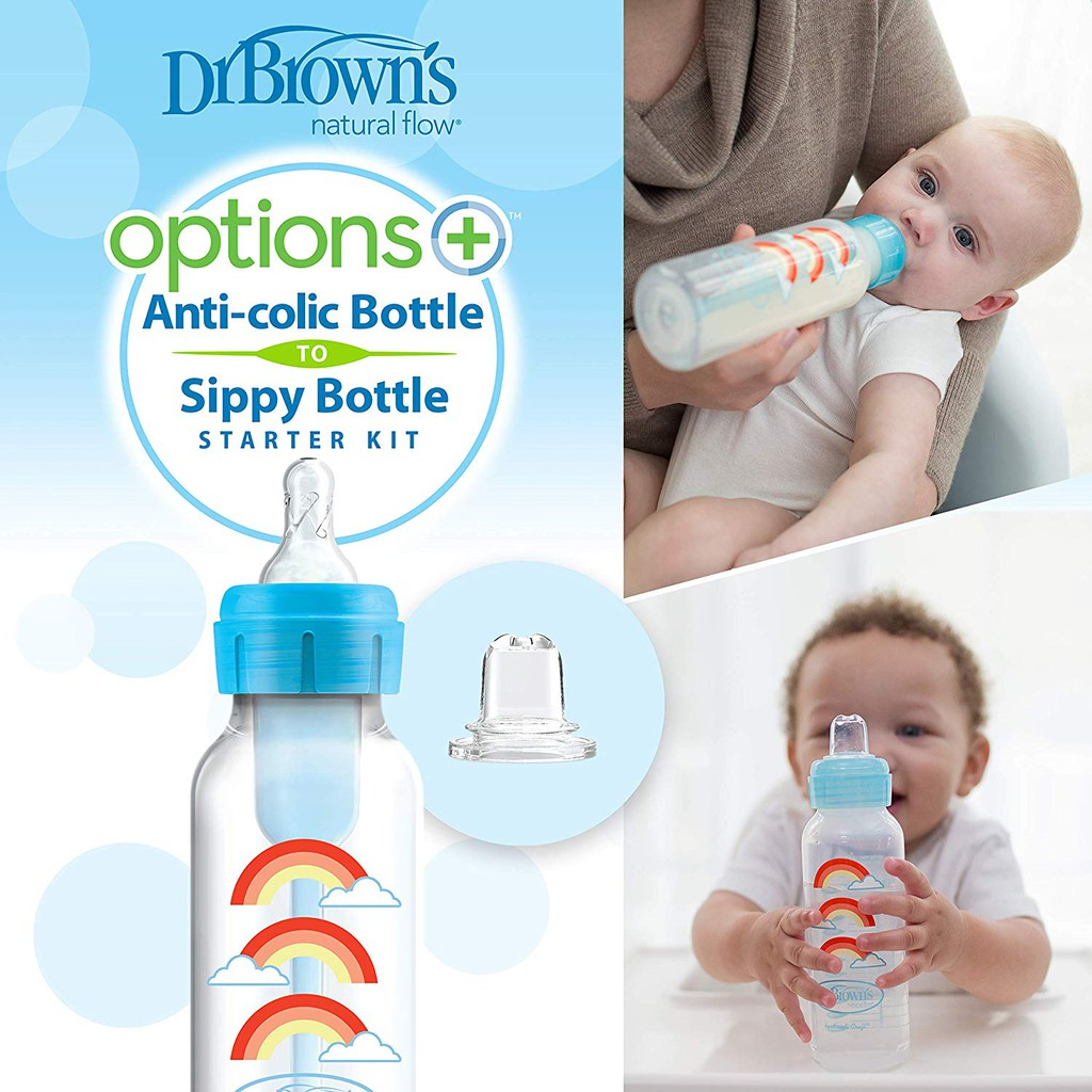 Dr Brown's Starter Kit Sippy Bottle (in use)