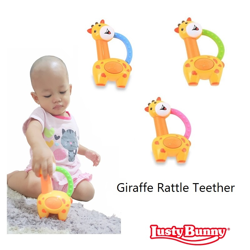 Lusty Bunny Giraffe Rattle Teether (1)