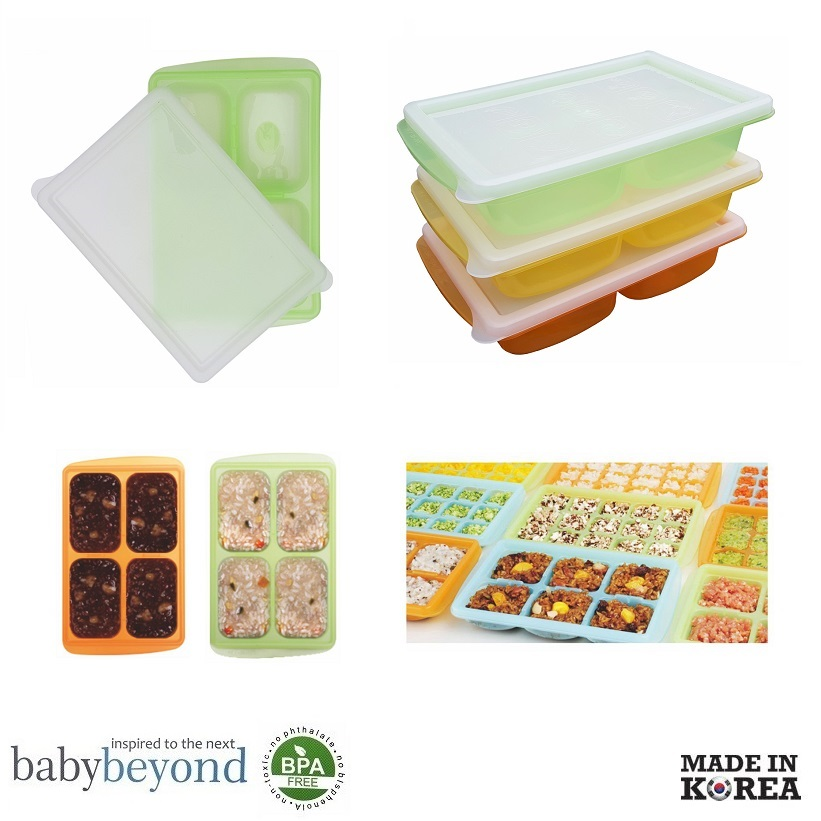 Baby Beyond PE 4 Cube Freezer Tray with Lid
