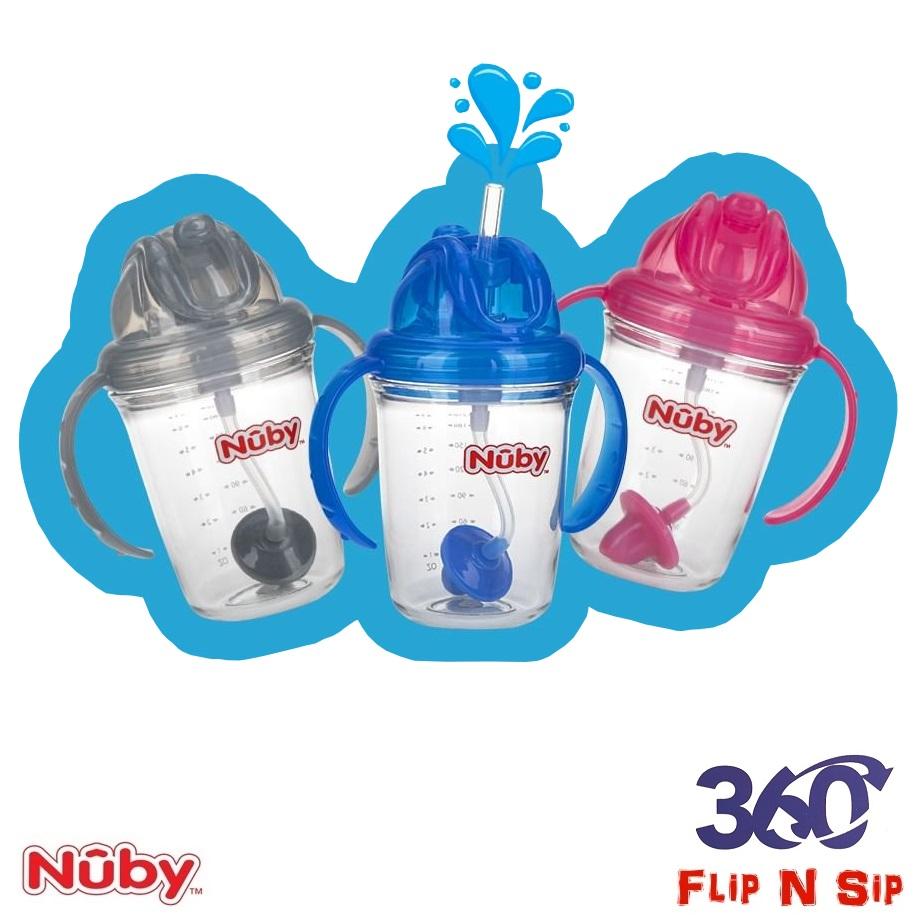 Nuby Active Sipeez 240ml Tritan Flip N Sip