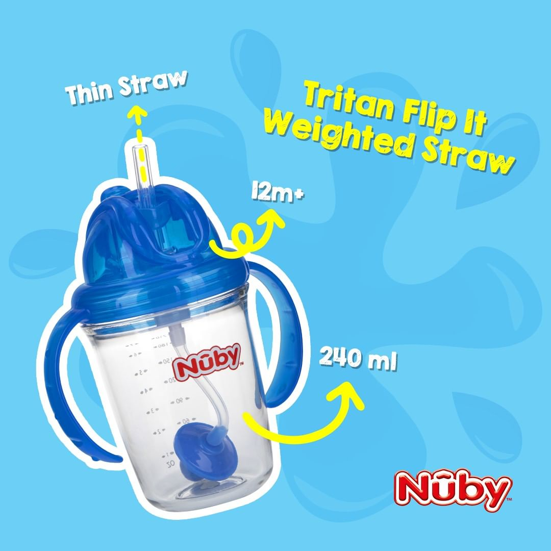 Nuby Active Sipeez 240ml Tritan Straw Cup