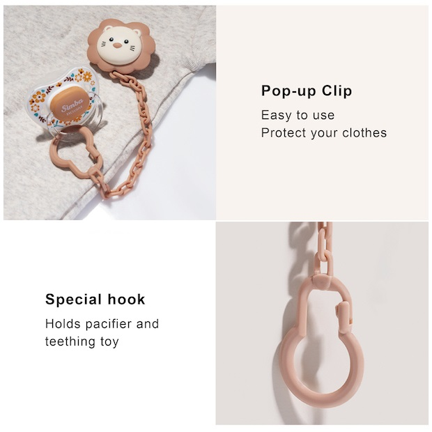 Simba Pacifier Holder Chain (Fitur)