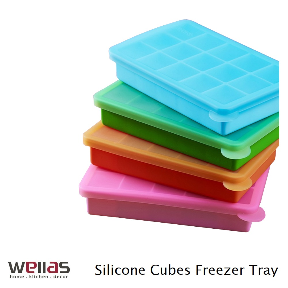Wellas Silicone Cube Food Storage Freezer Tray