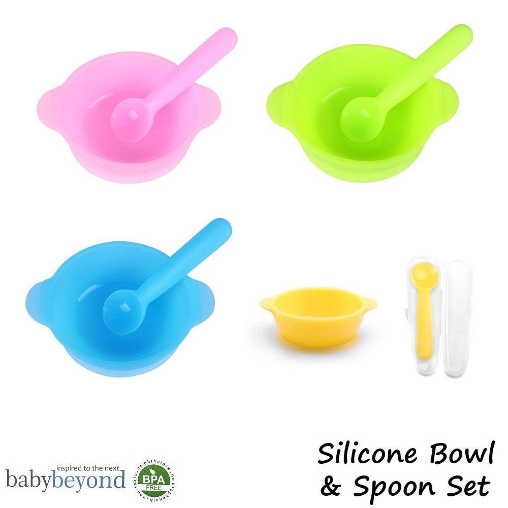 Baby Beyond Silicone Bowl and Spoon Set