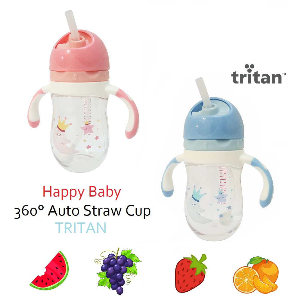 Happy Baby Tritan 360° Auto Straw Cup