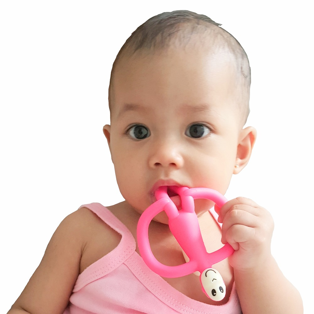 Sitting Monkey Teether in Use