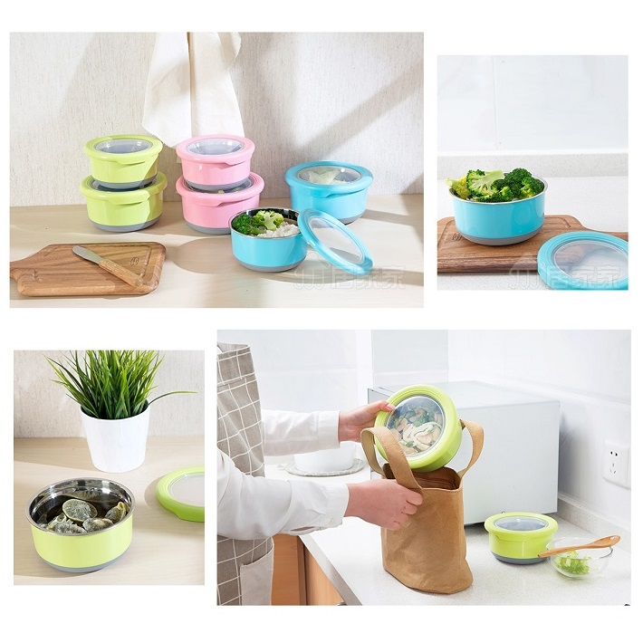Stainless Steel Food Containers with Lids (1)