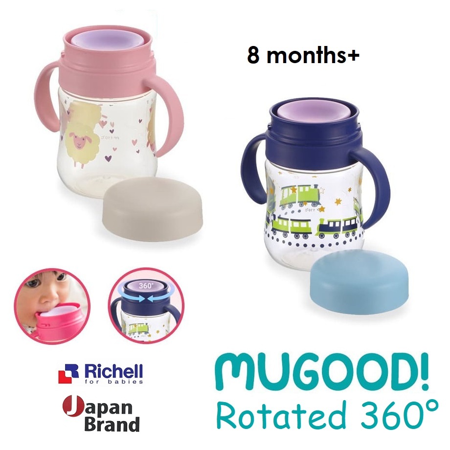 Richell Mugood Rotated 360 Drink Lifting Cup