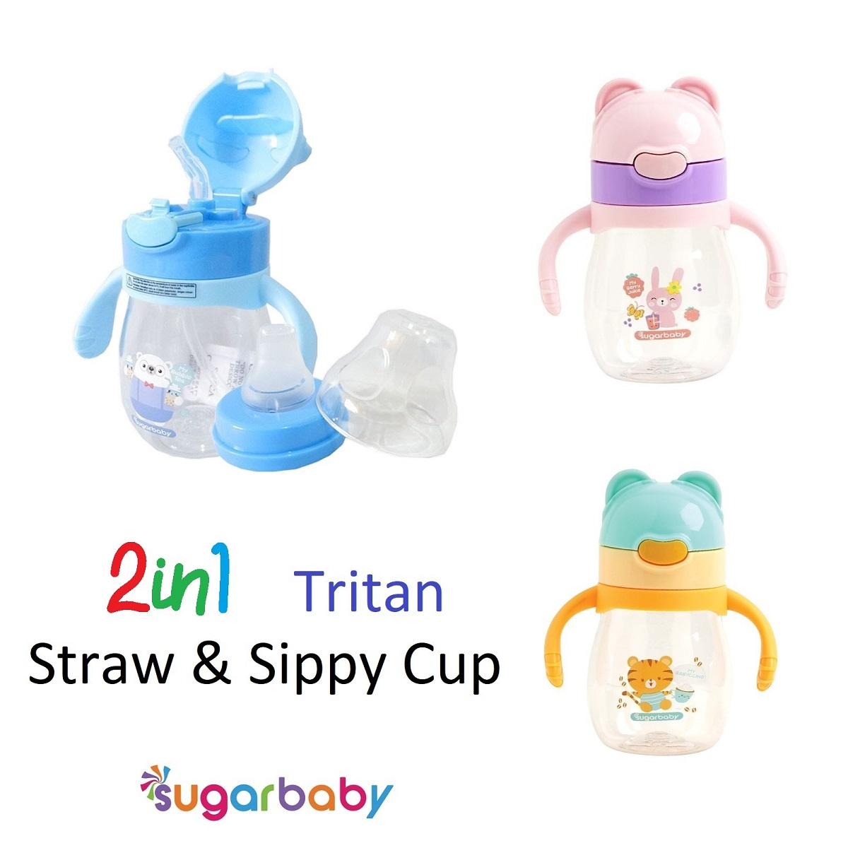 Sugar Baby 2in1 Sippy Cup Straw and Spout (1)