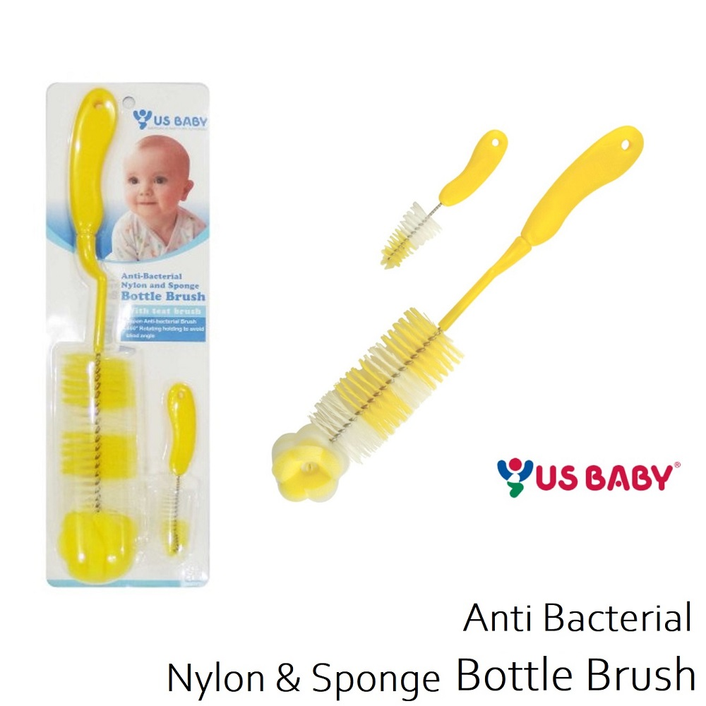 US Baby Anti Bacterial Nylon Sponge Bottle Brush (1)
