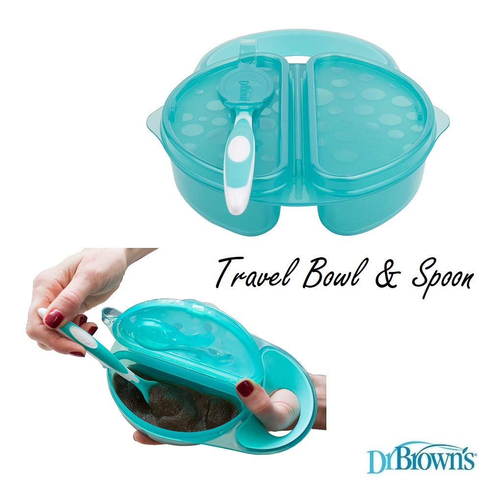 Dr Browns Travel Fresh Bowl and Spoon (1)