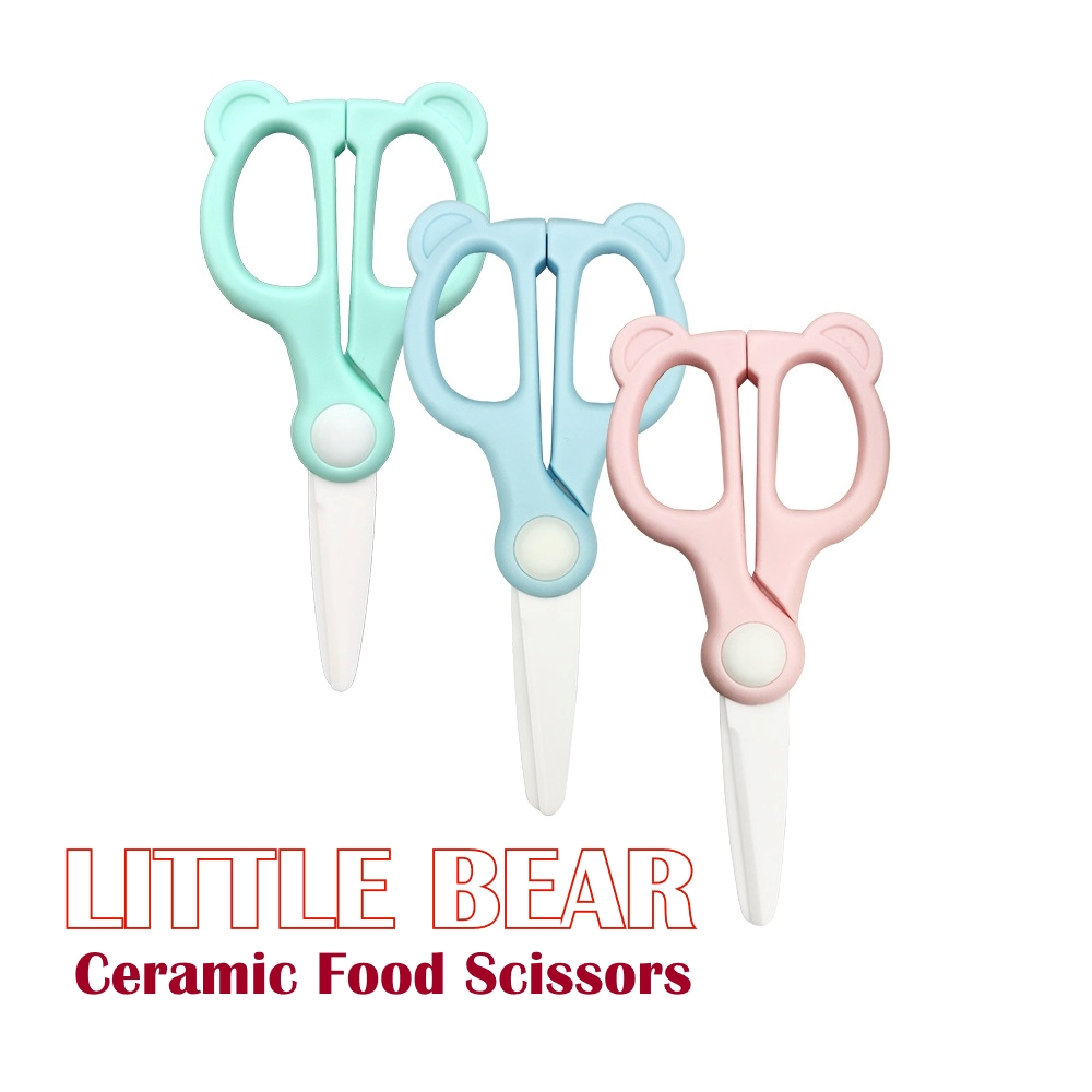Little Bear Ceramic Food Scissors