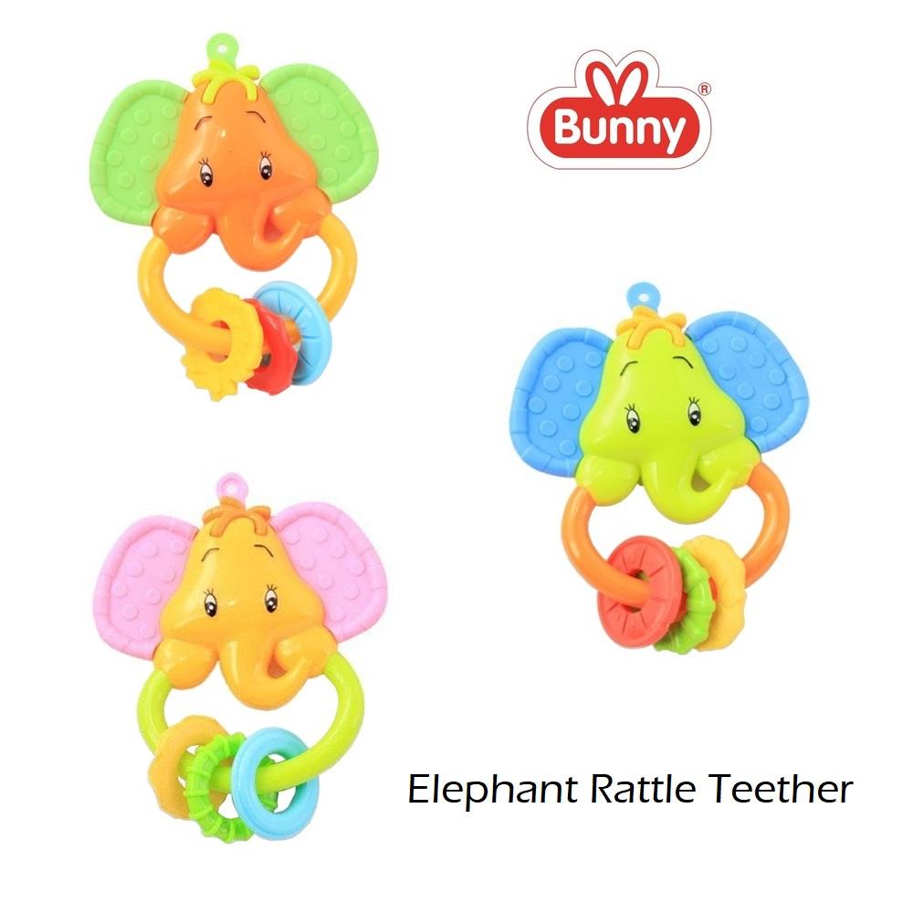 Lusty Bunny Elephant Rattle Teether