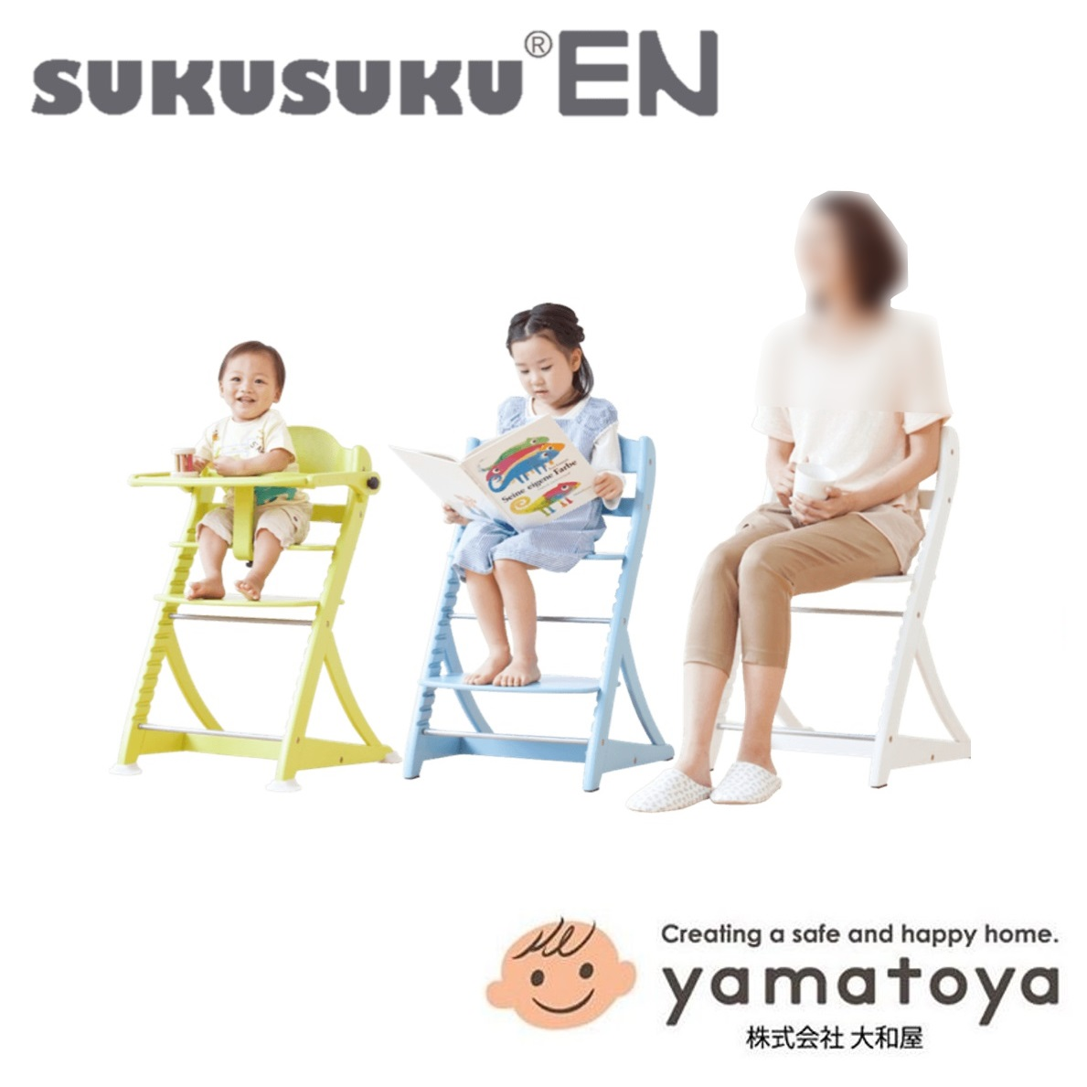 Yamatoya SukuSuku Highchair Kayu Elegan (1)