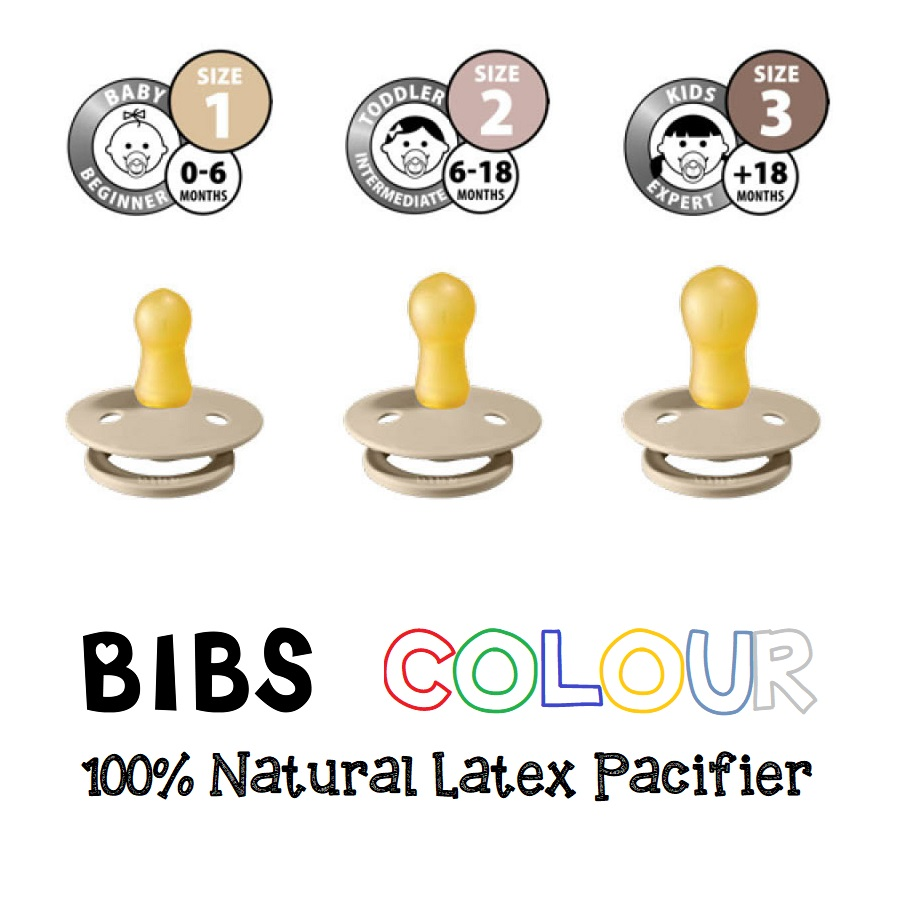 BIBS COLOUR Natural Latex Pacifier (1)