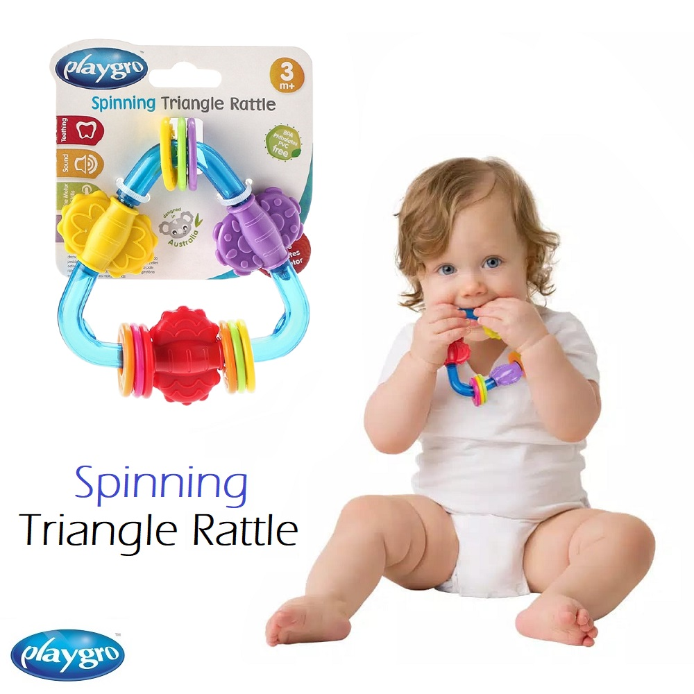 Playgro Spinnging Triangle Rattle