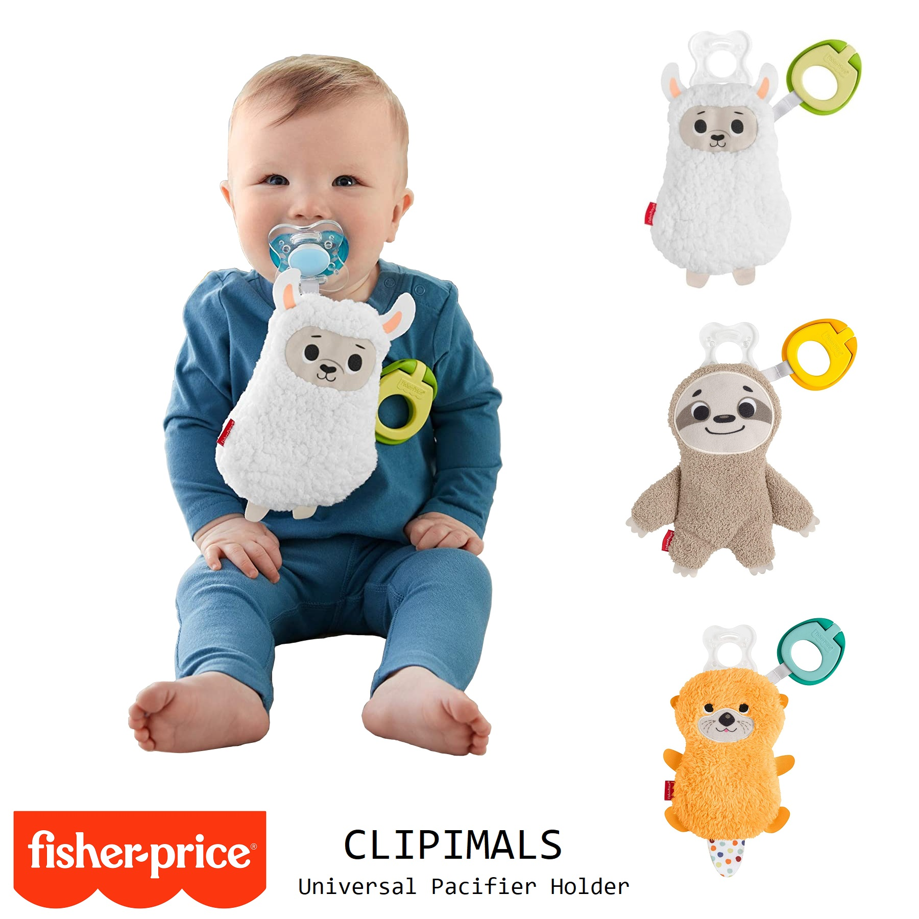 Fisher Price Clipimals Universal Pacifier Holder