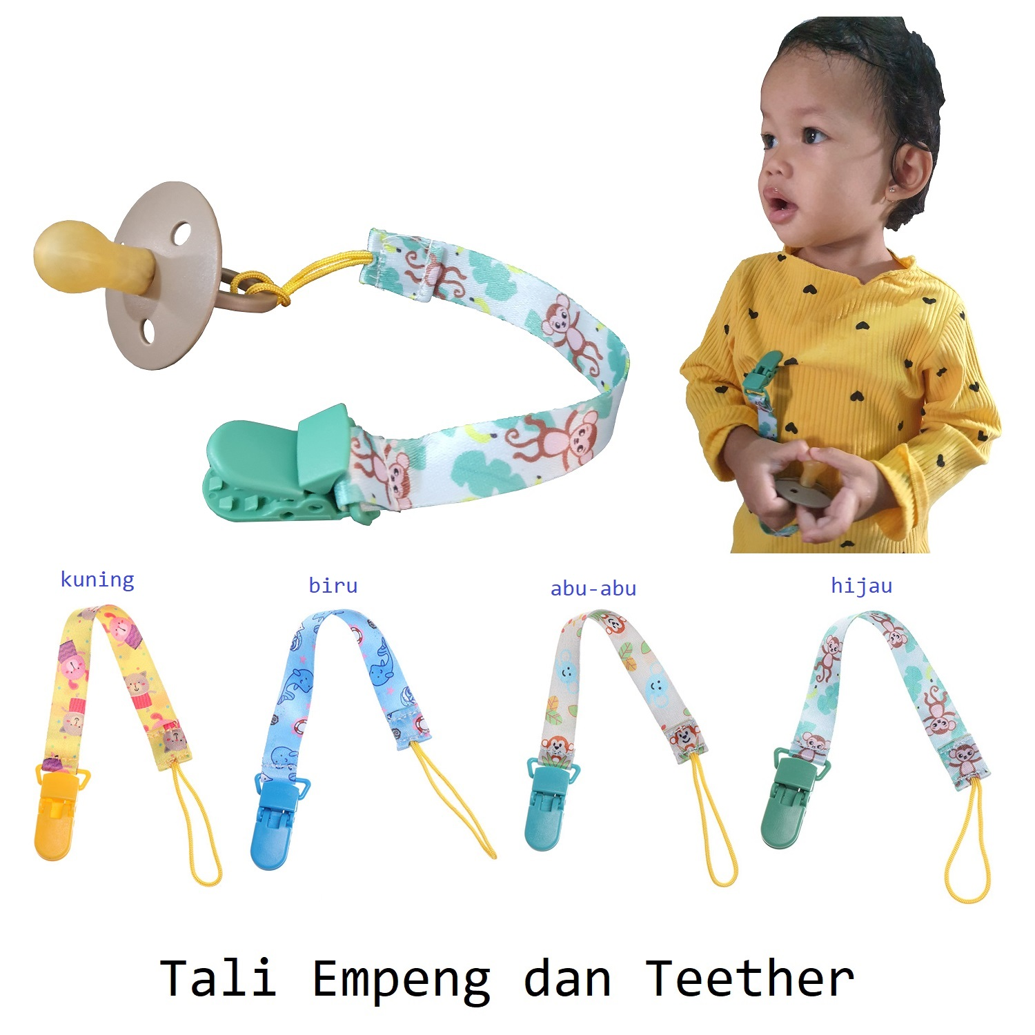 Tali Gantungan Empeng dan Teether (1a)