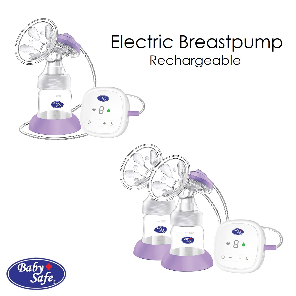 Baby Safe Electric Breastpump Rechargeable (1)