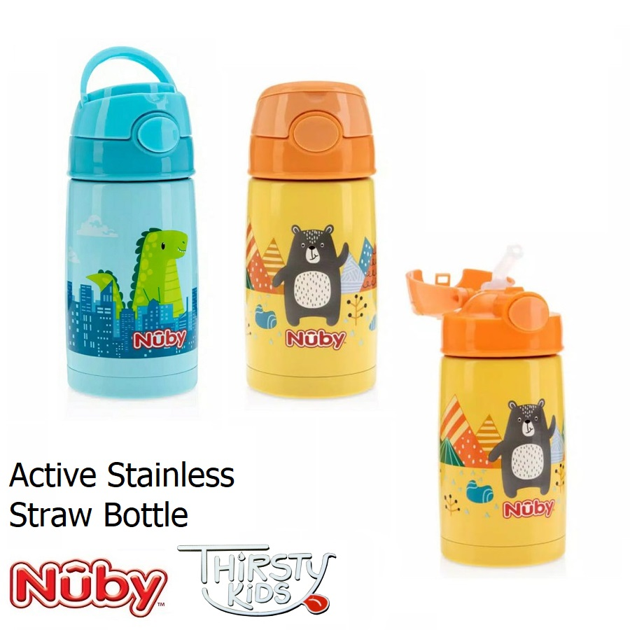 Nuby Active Stainless Straw Bottle