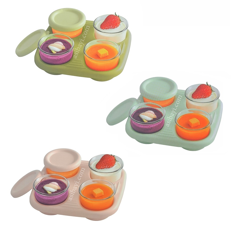 IQ Baby Glass Food Container with Tray (1)